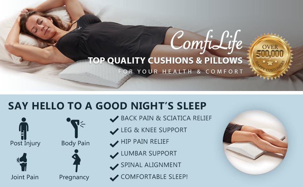 ComfiLife Lumbar Pillow for Sleeping