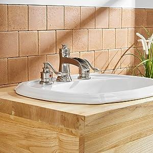 Waterfall Widespread Bathroom Faucet