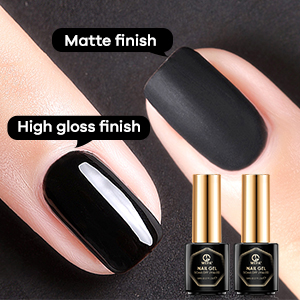 glossy and matte top coat