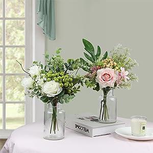 artificial flowes in vase