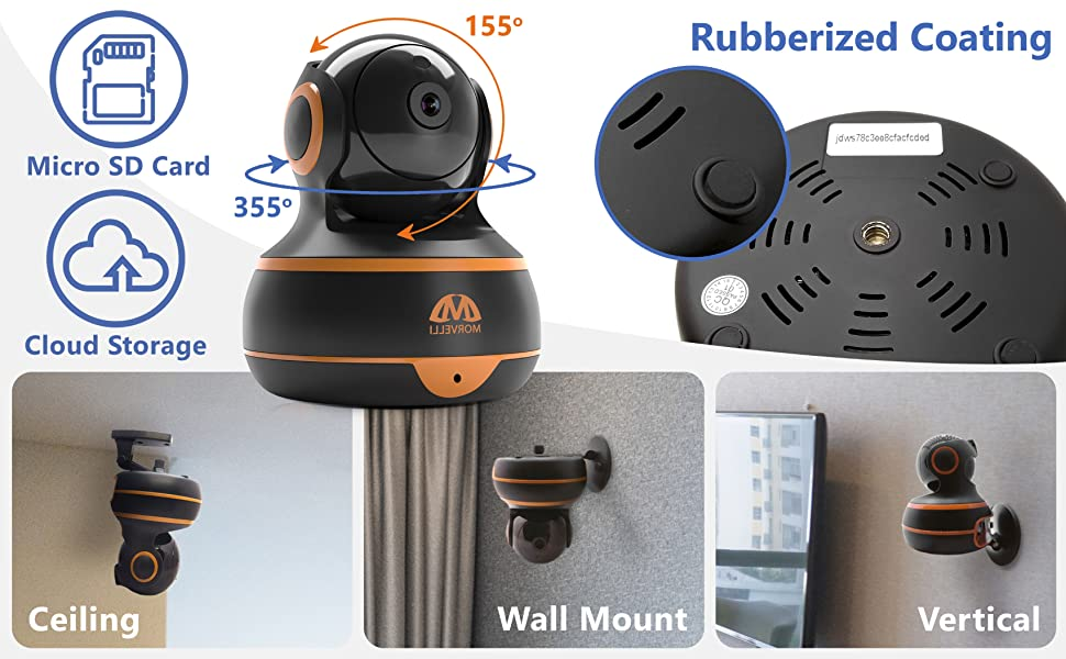 microSD card TF micro SD Rubberized coating Ceiling mount wall vertical installation universal