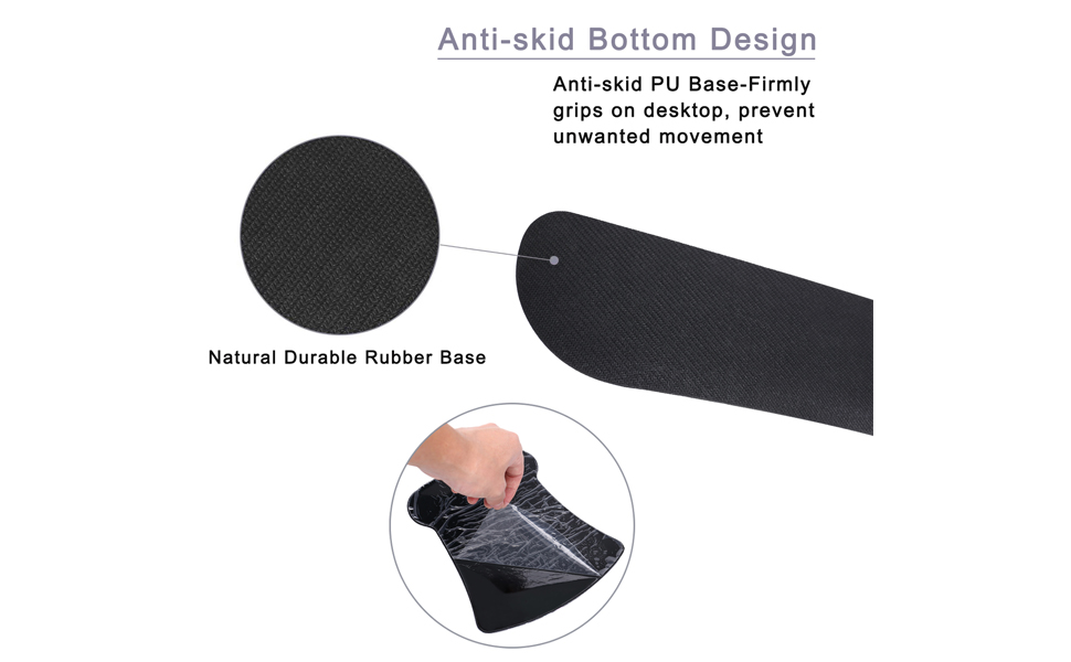 Anti-skid bottom design memory foam mousepad