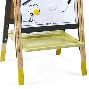 tableau gris et jaune janod tablette