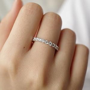 sparking diamond band ring for women girls