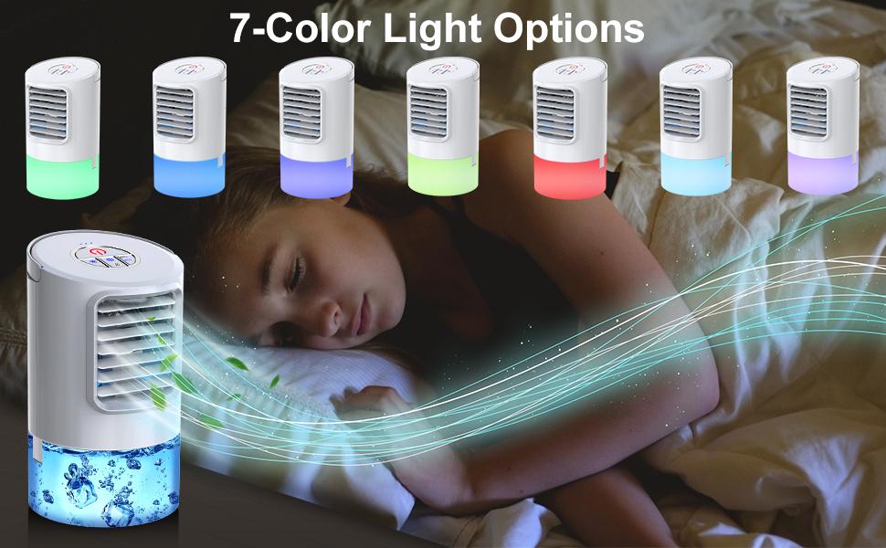 Air cooler: 7-color light options