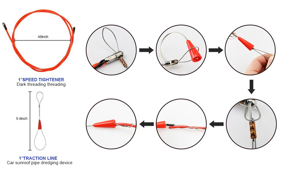 AUTDER 52 Pcs Body Repair Upholstery & Trim Tools Trim Removal Tool Kits