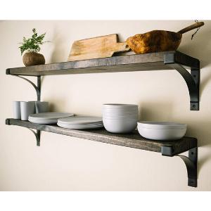 shelf brackets floating bracket l for shelves shelving 12 inch heavy duty metal wall decorative