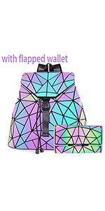 flapped wallet with backpack