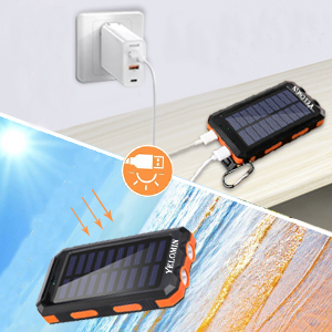 solar phone charger has two different charging methods.It can make your life convenient.
