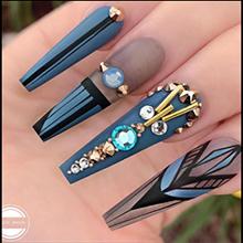 Ballet nail art effect 1