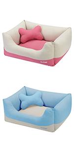 Linen Blended Color-block Bed