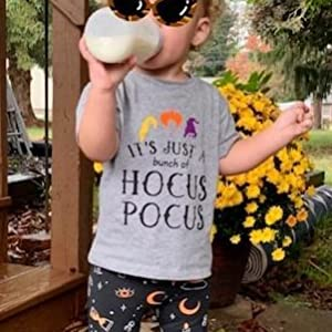toddler baby cute halloween hocus focus shirts letter graphics tee tops boy girls 3 witchs t shirt