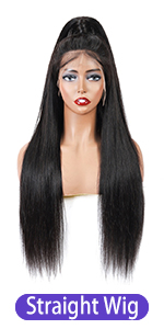 straight 360 lace frontal wig 100% virgin human hair wigs pre plucked with baby hair