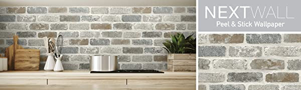 peel and stick, brick wallpaper, brick peel and stick, removable wallpaper, adhesive wallpaper