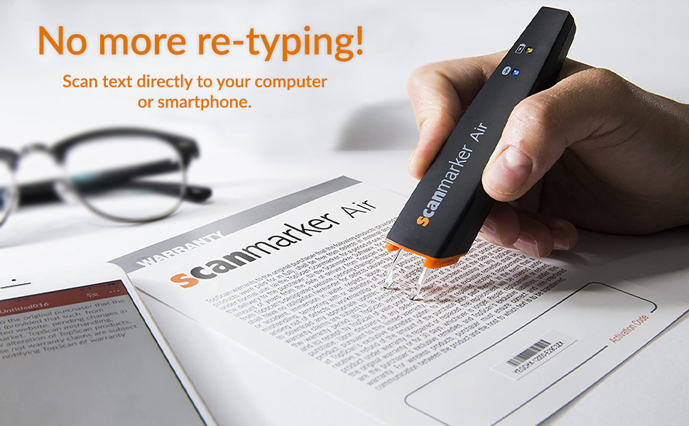 Digital Highlighter Scanning Pen Scanmarker Air Pen Scanner Reader black