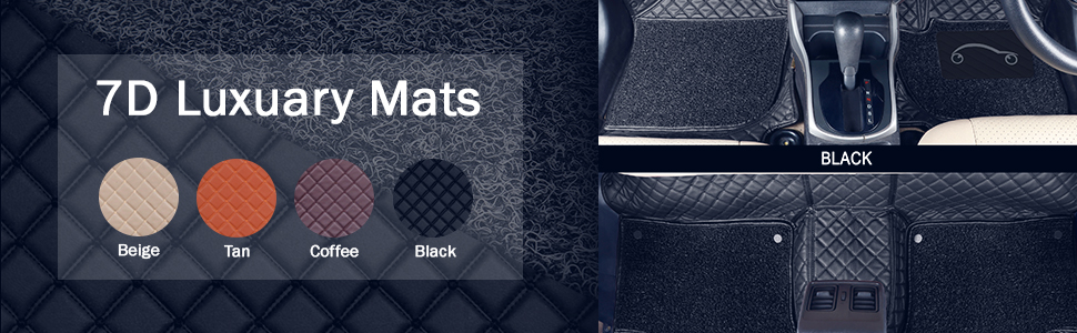total 4 Custom auto mats Your vision we design set of 2 front and 2 rear