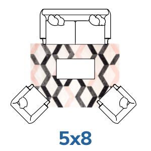 Well Woven geometric 5x7 5x8 rugs.
