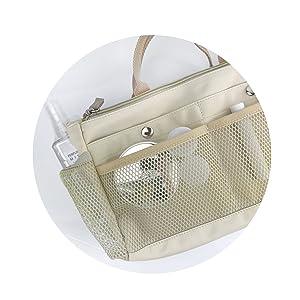 mesh organizer purse