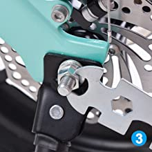 Tighten the lock nut(use the original nut on your bike)