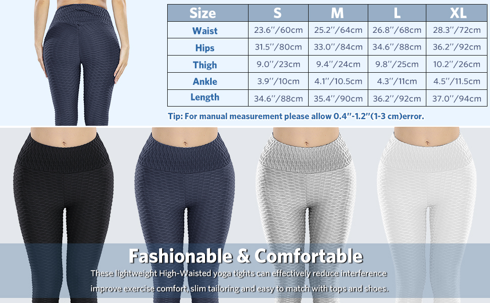 High Waisted Yoga Pants Workout Tummy Control Tights Butt Lifting Anti Cellulite tiktok Leggings