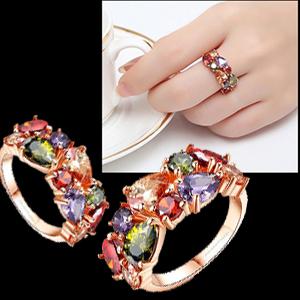 Swiss Cubic Zircon Crystal Rings birthday valentine gift for women girls