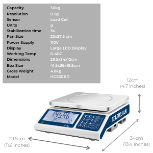 counting scale parts counting scale precision balance 30kg weighing scale industrial scale