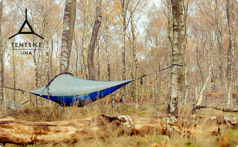 Tentsile UNA hanging tree hammock tent outdoors camping hiking flying pack solo camping