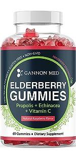 Zinc GANNON MED Garden of Life Vegan Vitamin C Elderberry orange fruit organic 50 mg