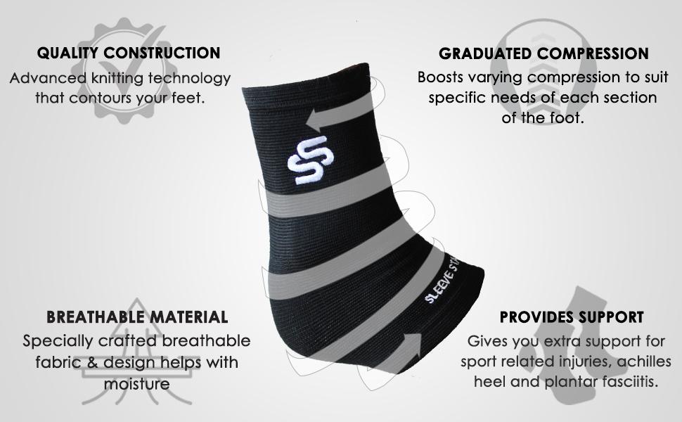 running socks, sleeve stars, ankle brace, foot sleeve