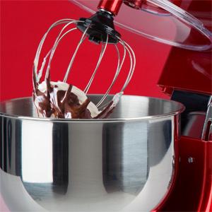 Klarstein Bella Argentea - robot da cucina, mixer, impastatrice, 1200 W, 6 PS, 5,2 L, sistema planetario, 6 livelli, terrina in acciaio inox, sistema bloccaggio rapido, argento