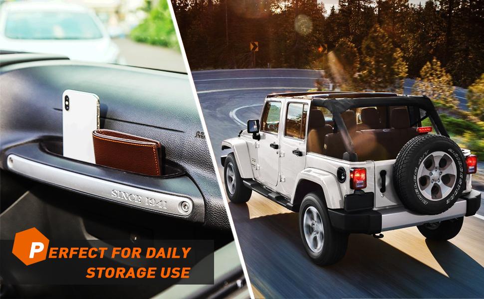 Jeep wrangler storage pockets