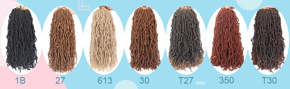 Pre-loop Crochet Braids Soft Curly Faux Locs Hair Synthetic Braids Most Natural Dreadlocks Hair