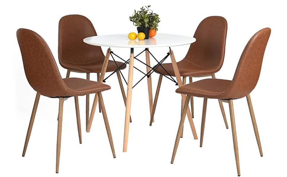GreenForest PU Leather Dining Chairs