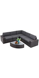 patio6 piece outdoor sofa chairs