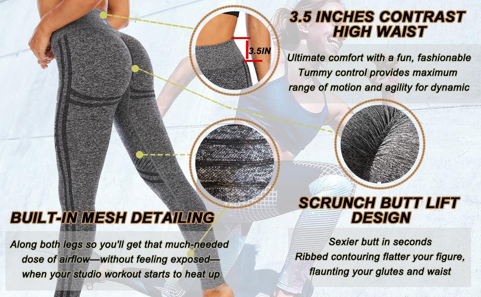 BUILT-IN MESH DETAILING:Thigh and shins adopt mesh jacquard design, you'll get longing airflow