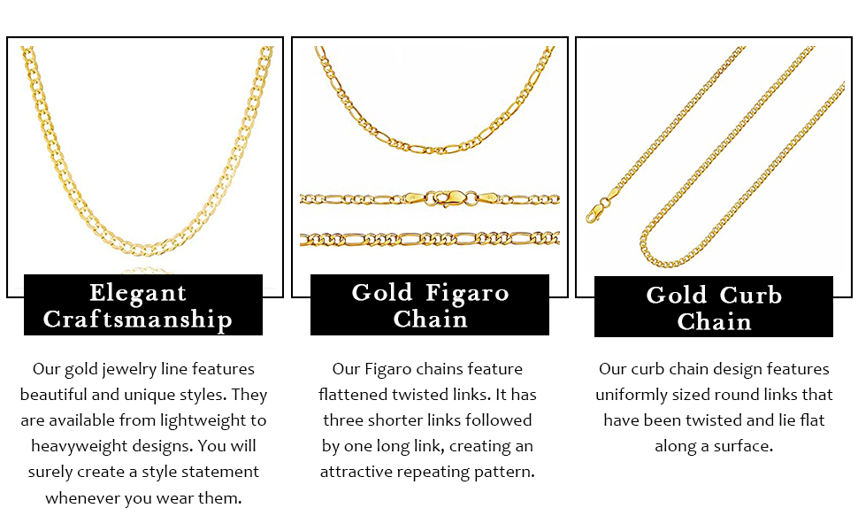 Golden curb chain with elegant look