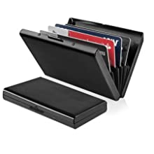 credit card holder wallet protector rfid blocking slim men women gift travel black gift box thin