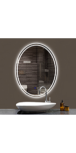 24x32 inch oval mirror
