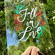 home decor sign autumn fall theme made with kassa vinyl sheets