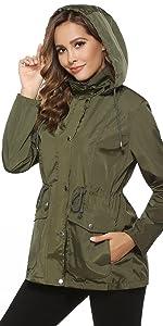 Impermeable Chaqueta Mujer Abrigo de Lluvia