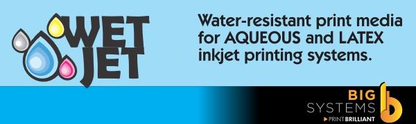 Wetjet, Aqueous, latex, wide format paper, bond paper, engineering paper, photo paper, photo gloss,