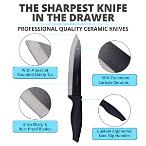sharp ceramic kitchen knives chef knife ceramic knife kitchen knife set ceramic knife sharpener