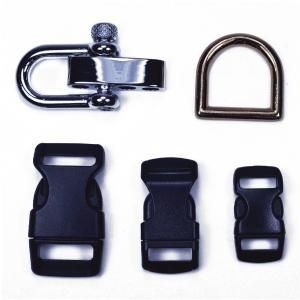 buckles, shackes, key rings, d rings