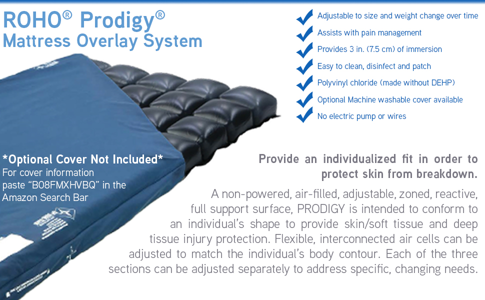ROHO Prodigy mattress overlay system amazon