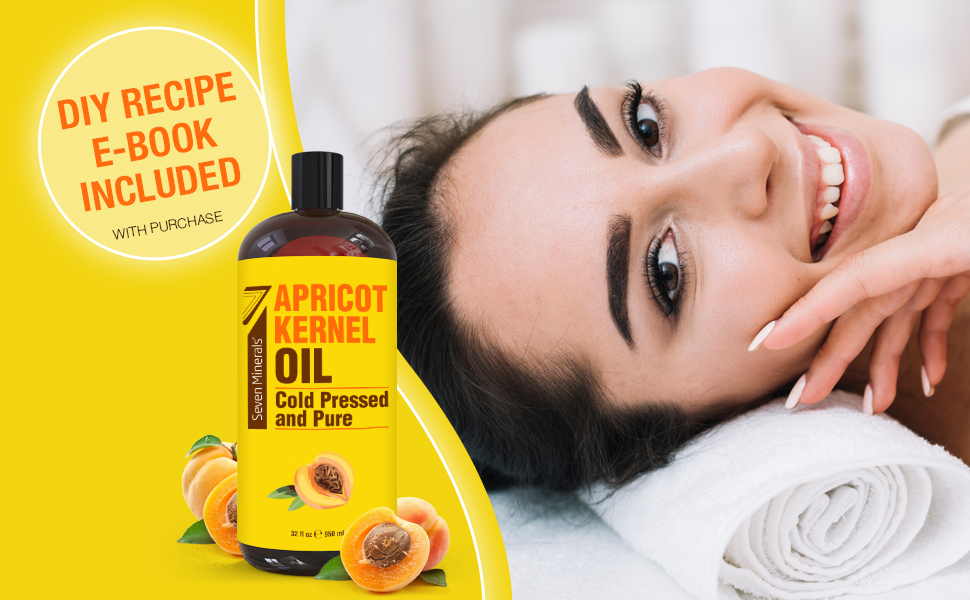 Apricot kernel oil recipe book included
