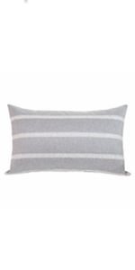 stripe lumbar pillows