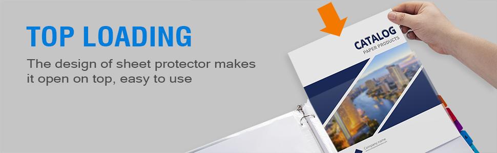Sooez Clear Sheet Protectors