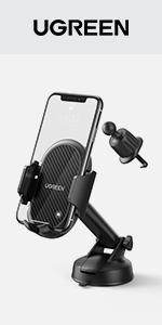 UGREEN Windscreen Car Phone Holder Suction Cup Dashboard Mount