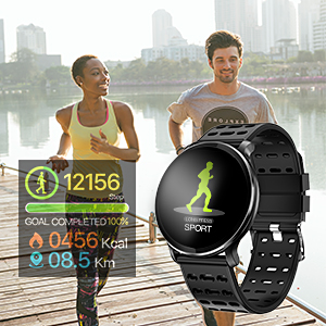 CanMixs Smart Watch with Heart Rate Monitor IP67 Waterproof Sports Fitness Tracker Watches for Men Women Kids Gifts CM10 Smartwatch Compatible for ...