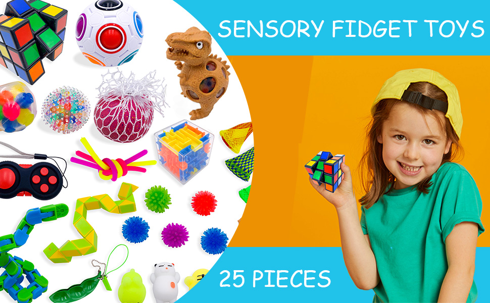 KAKAPI Sensory Fidget Toys Set Juguetes para aliviar el estr/és de la mano para adultos